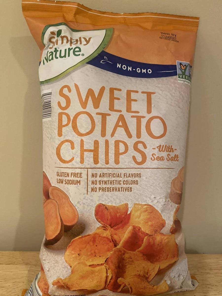 Sweet Potato Chips With Sea Salt