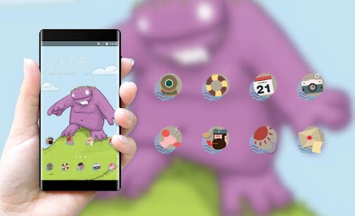 Cute monster theme graffiti cartoon wallpaper - Android Apps on ...