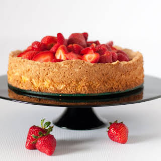 Gluten-Free Lemon Almond Cake with Strawberries.