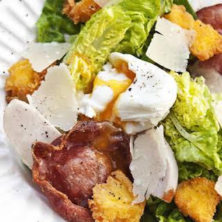 Smoked Chicken Caesar Salad with Polenta Croutons.
