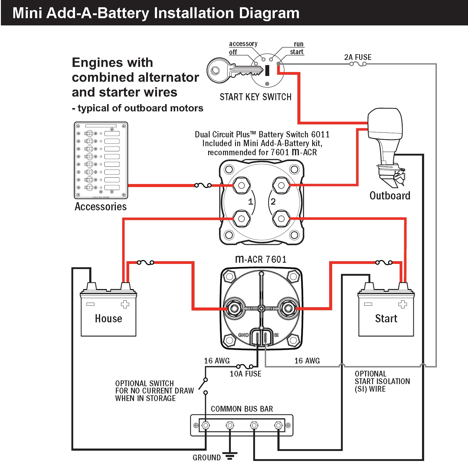 battery isolator wiring diagram 2005 chevy typical battery isolator wiring diagram blue sea 7601 marine vsr acr automatic charge relay 65 a ... #12