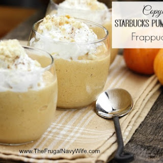 Copycat Starbucks Pumpkin Spice Frappuccino.