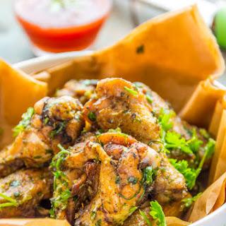 Baked Garlic Parmesan Chicken Wings