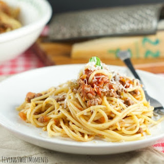 Spaghetti with San Marzano Tomato And Meat Sauce