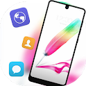 Colorful feather pen theme for Galaxy J7 Max icon