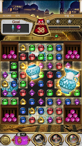 Jewels Magic Lamp : Match 3 Puzzle apkpoly screenshots 5