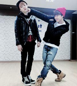 BTS Jimin punching Suga