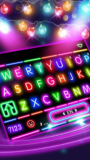 Sparkle Neon Lights Keyboard Theme 1.0 screenshots 1