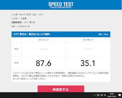 NTT ※フレッツ網  の速度