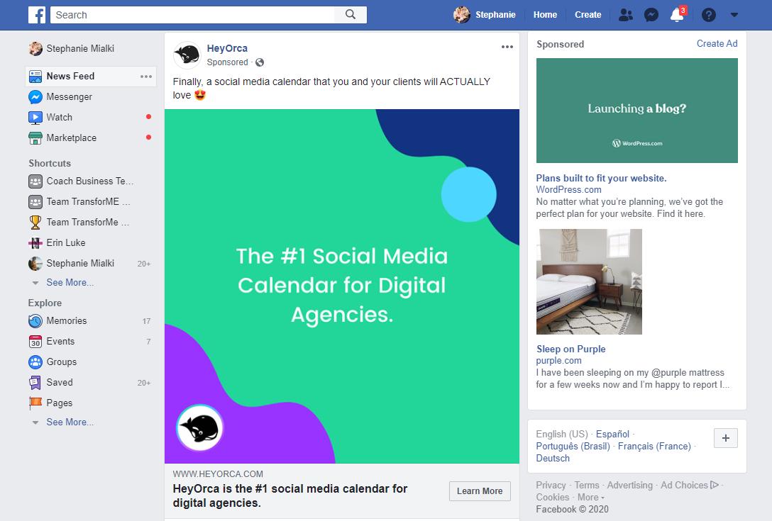 графические объявления лучшие практики цветовой контраст Facebook