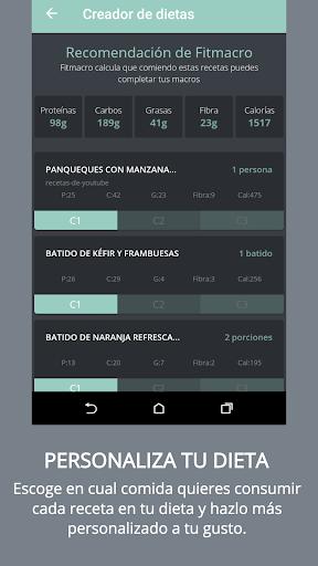 Contador de Calorías Fitmacro screenshot 2