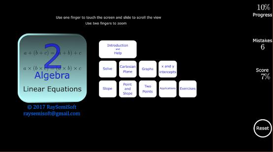 Algebra Tutorial 2: Linear Eqs - náhled