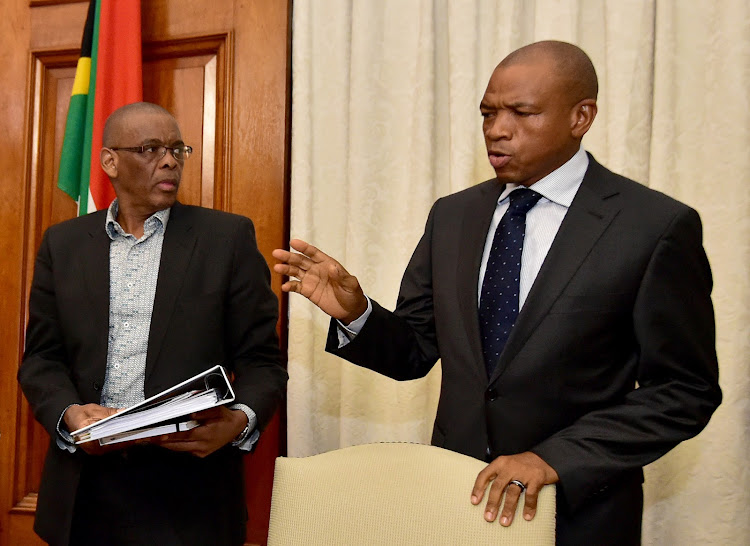 ANC secretary-general Ace Magashule and former North West premier Supra Mahumapelo. Magashule says Mahumapelo will be a member of the provincial task team. Picture: KOPANO TLAPE/GCIS