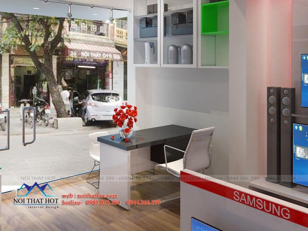 thiết kế cửa hàng điện máy hiện đại thời thượng