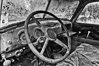 Photo: Inside Old Truck - 2nd place - B&W Mechanical