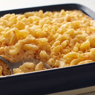 Homemade Baked Macaroni and Cheese.