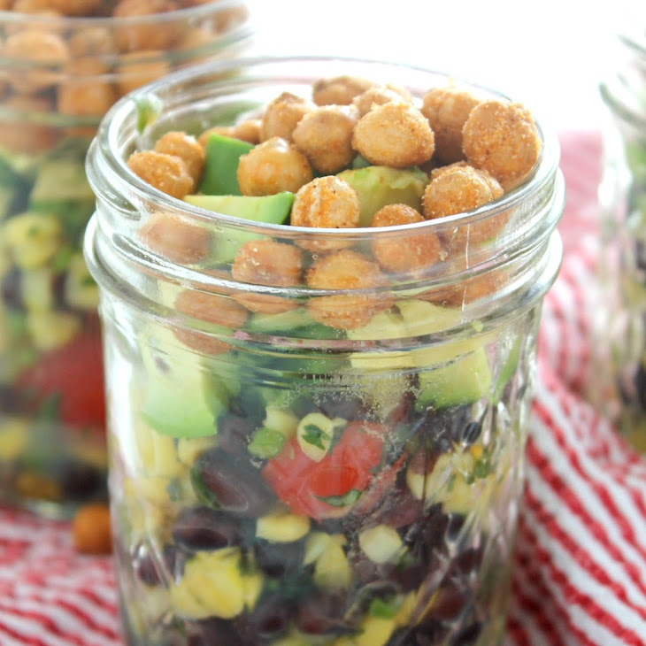 Corn Salad with Avocado and Crunchy Chickpeas Recipe