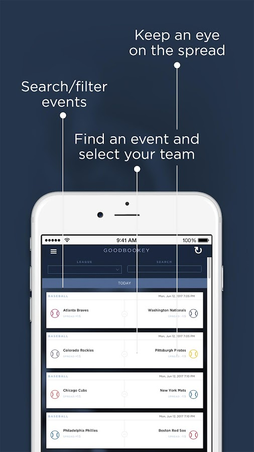 GoodBookey - Social Sports Betting for Charity- screenshot
