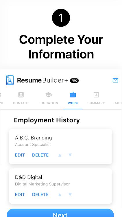 Resume Builder App Free Pdf Templates Cv Maker Android Apps