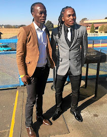 Reneilwe  Letsholonyane, left,  speaks about his best friend and former teammate at Kaizer Chiefs Siphiwe Tshabalala's lifestyle.