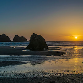 Holywell Sunset  by Jolyon Vincent - Landscapes Sunsets & Sunrises
