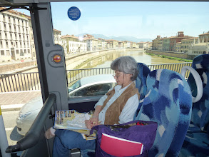 Photo: On the bus from Pisa airport to Lucca, about one hour ride.