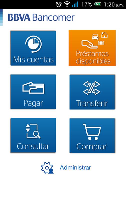 Bancomer móvil- screenshot