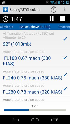 Boeing 737 Checklist by CodeBreaker (Google Play, United