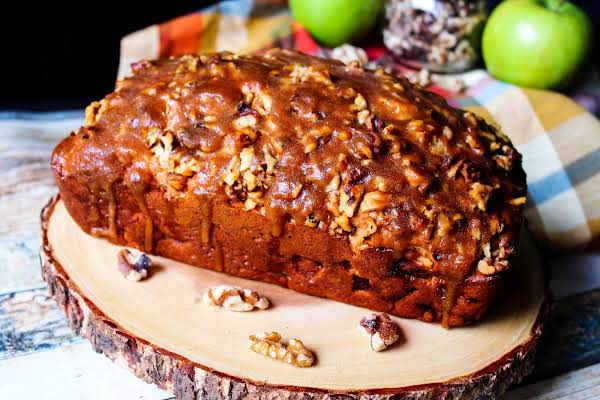 Praline Apple Bread Ready To Be Sliced.