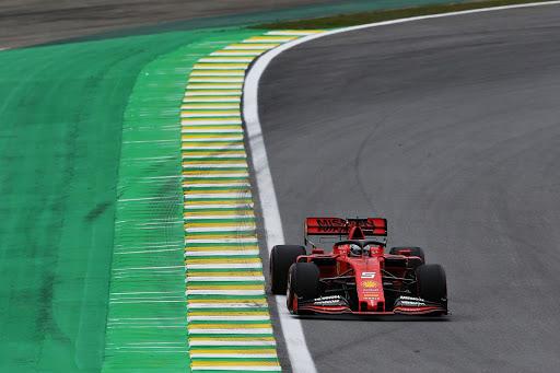 Sebastian Vettel leads Ferrari one-two in Brazilian practice