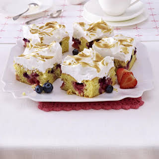 Berry Meringue Cakes.