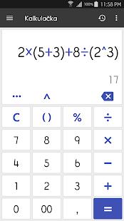 ClevCalc - Kalkulačka - náhled