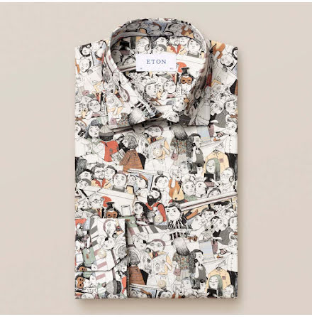 ETON The visitors print slim fit