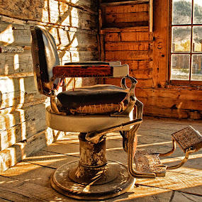 Old Barber Chair by Chris Bartell - Buildings & Architecture Public & Historical ( chair, ols, barber, rusty, historic,  )