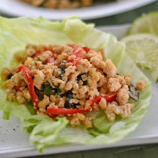 Spicy Thai Basil Chicken.