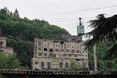 Die Bergbaustadt Tschiatura ist bekannt für ihre Seilbahnen.