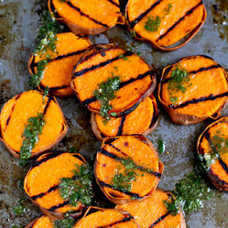 Grilled Sweet Potatoes with Cilantro Vinaigrette