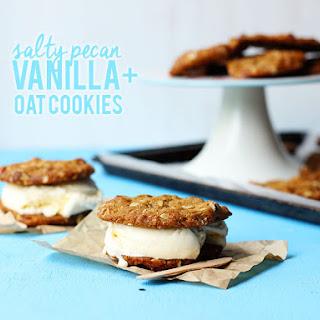 Salty Pecan, Vanilla & Oat Cookies