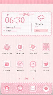 Pink Plaid Hola Theme - náhled