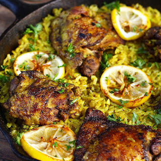 One Pot Middle Eastern Chicken and Rice.