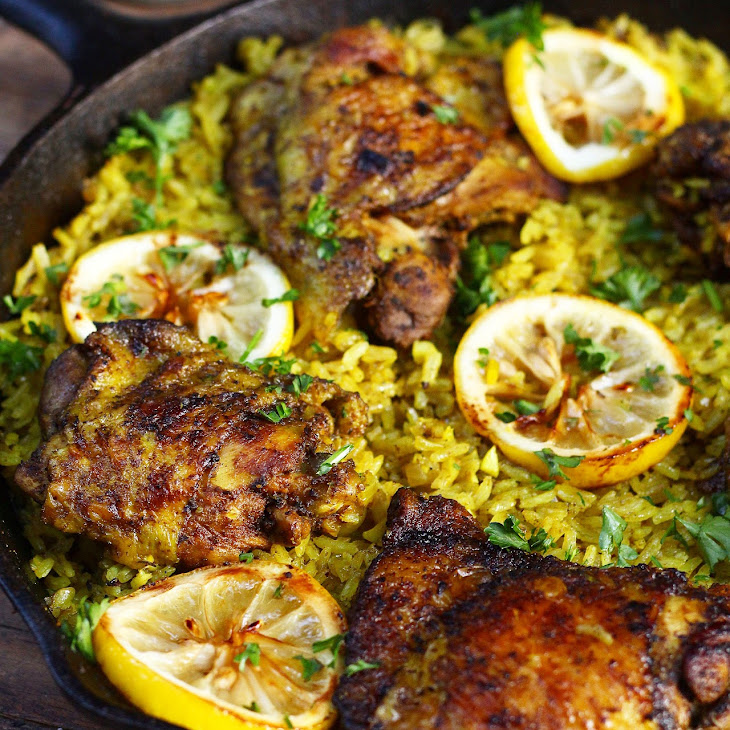 One Pot Middle Eastern Chicken and Rice Recipe