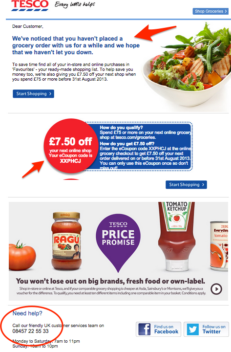 win back email campaign example_tesco