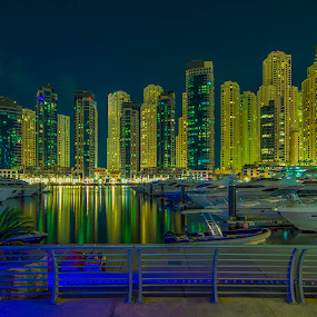 Colorful Towers by Andy Arciga (www.arcigaandy.com) - Buildings & Architecture Office Buildings & Hotels ( , city, night, Urban, City, Lifestyle )