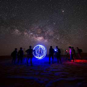 up close with nature... StarWars edition by Vic Pacursa - Abstract Light Painting ( milkyway, friends, uae, outdoor, lightpainting )