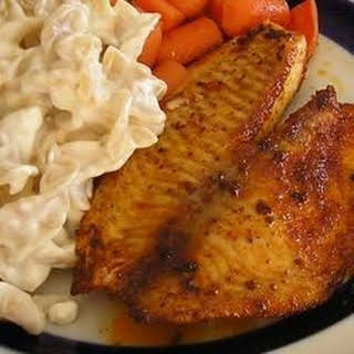 Blackened Tilapia with Secret Hobo Spices.