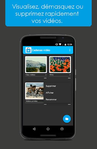 Cadenas vidéo - Vidéos Masquer screenshot 3