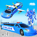 Flying Limo Police Helicopter Car Robot Games icon