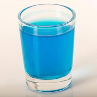 Blue Kamikaze Cocktail.