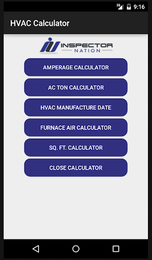 Inspection HVAC Calculator