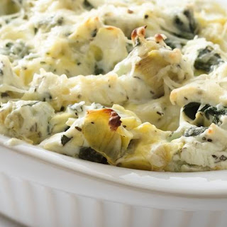 Skinny Spinach Dip with Artichokes